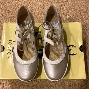NIB Fly London Yett Wedge Shoes.